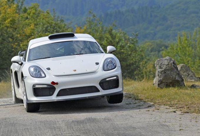 Porsche : un Cayman GT4 de rallye #1