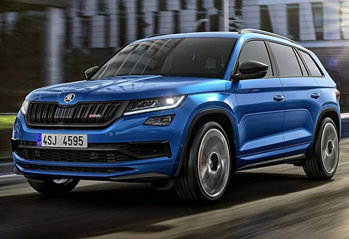 fotos skoda kodiaq rs 240 pk en een sportieve look 2018. Black Bedroom Furniture Sets. Home Design Ideas