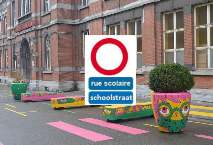 De schoolstraat is geïntegreerd in de wegcode #1