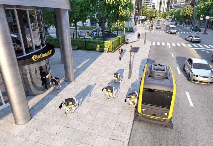CES 2019 – Continental : livraison par navette autonome et robots canins #1
