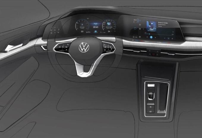 VW Golf 8: het dashboard is bekend #1
