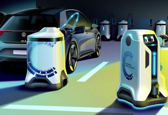 Volkswagen bedenkt robot die mobiel laden mogelijk maakt #1