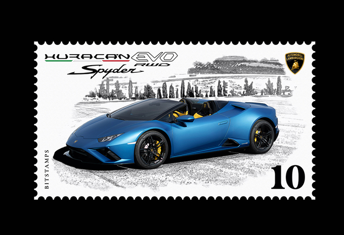 Lamborghini Huracán is er nu ook als... digitale postzegel! #1