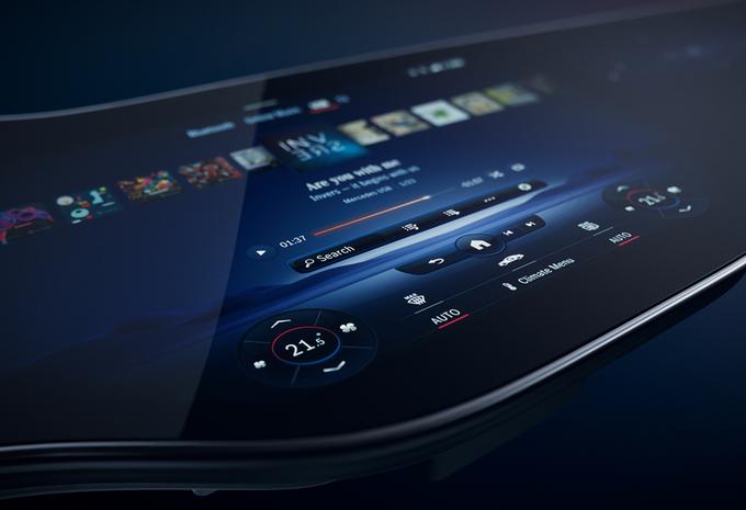 Mercedes EQS toont zijn MBUX Hyperscreen #1