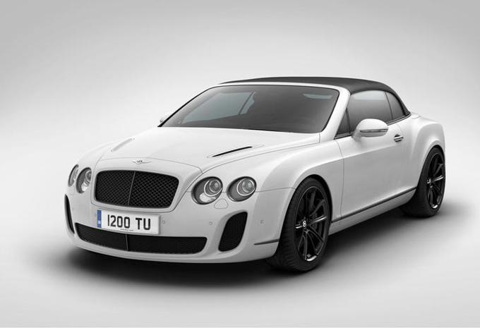 Bentley cabriolet Supersports Ice Speed Record #1
