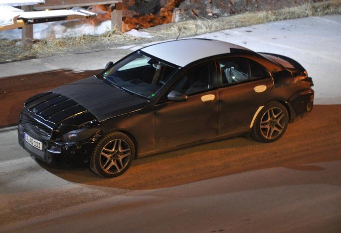 Nieuwe Mercedes C-Klasse betrapt #1