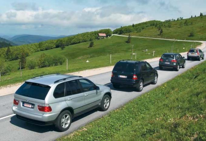 BMW X5 3.0d, Mercedes ML 270 CDI, VW Touareg 2.5 R5 TDI & Volvo XC90 D5: Sport utilitaires de velours #1