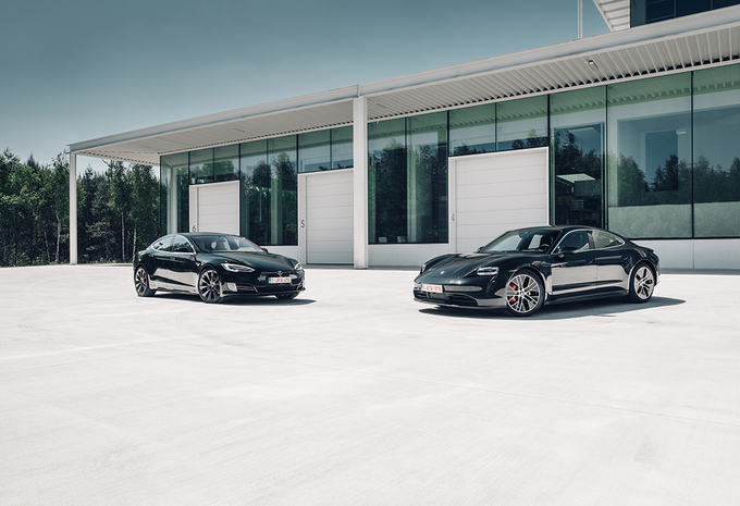 Porsche Taycan 4S vs Tesla Model S Long Range #1