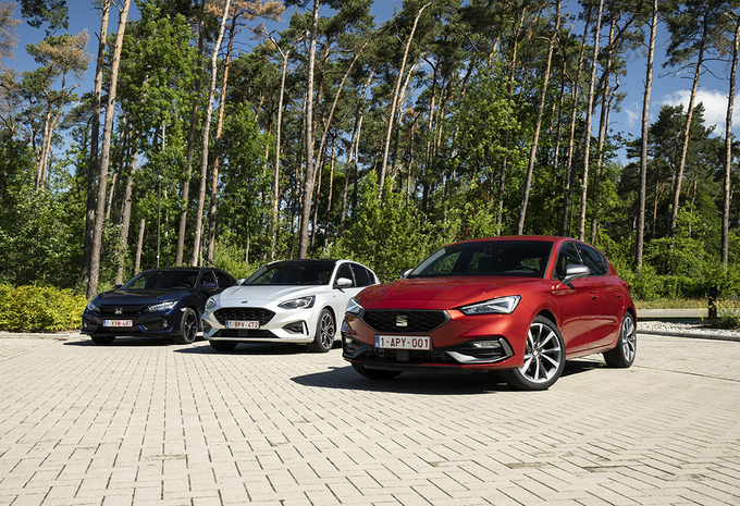 Plezierige compacte middenklassers : Ford Focus, Honda Civic en Seat Leon #1