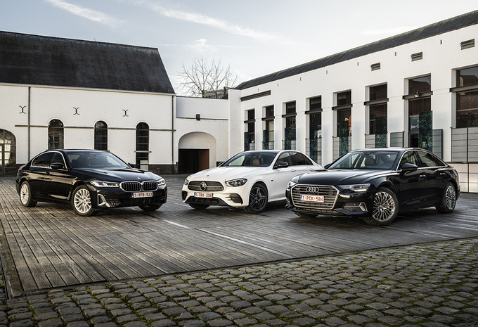 Vergelijkende test AUDI A6 50 TFSI e QUATTRO // BMW 530e XDRIVE // MERCEDES 300 e (2021) #1