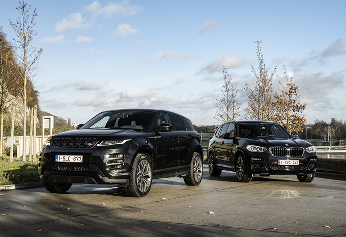 BMW X3 xDrive30e vs Range Rover Evoque P300e #1