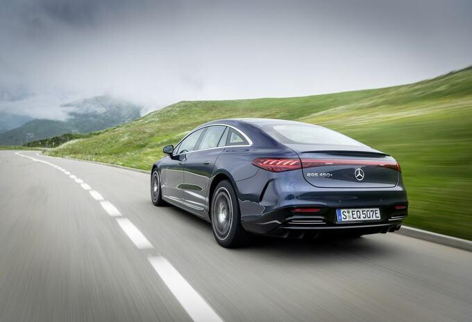 Mercedes EQS 450+: 780 km d'autonomie électrique