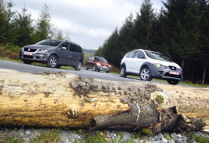 Renault Scénic Conquest 1.9 dCi 130, Seat Altea Freetrack 2.0 TDI 136 & Volkswagen Crosstouran 2.0 TDI #1