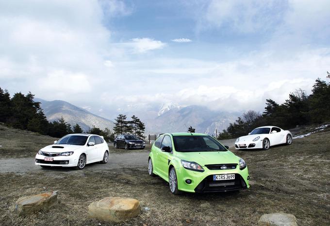 Ford Focus RS, Mitsubishi Lancer Evolution, Porsche Cayman S & Subaru Impreza WRX STi : Temps Scratch #1