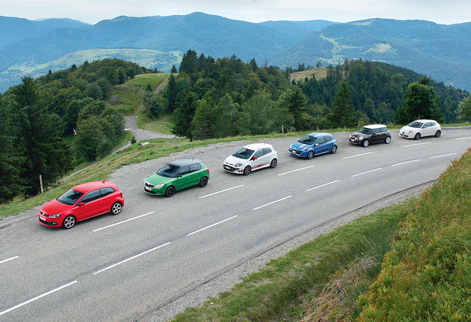 Mini Cooper S, Renault Clio RS, Volkswagen Polo GTI, Alfa Romeo MiTo Quadrifoglio Verde, Abarth Punto Evo, Skoda Fabia RS :  Petites furies #1