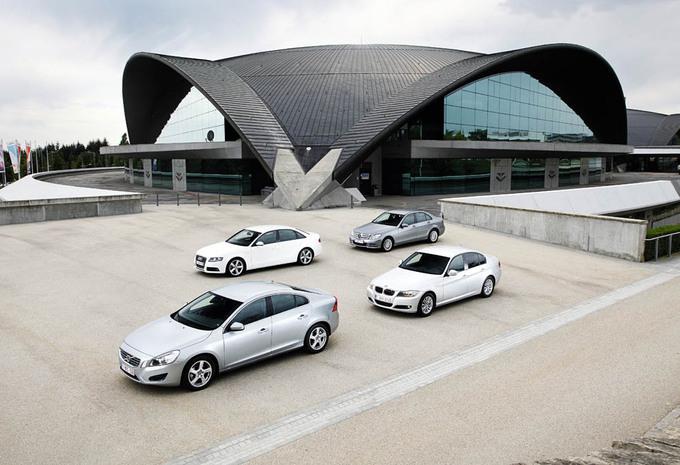 Audi A4 2.0 TDI 120, BMW 316d, Mercedes Classe C 180 CDI et Volvo S60 DRIVe : Entrée en classe affaires #1