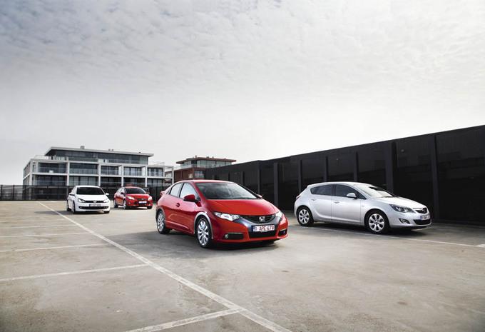 Ford Focus 2.0 TDCi 136, Honda Civic 2.2 i-DTEC 150, Opel Astra 1.7 CDTI 130 ecoFLEX et Volkswagen Golf 2.0 TDI 140 : Sursaut d'orgeuil #1