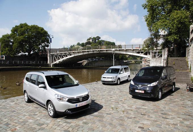 Dacia Lodgy 1.5 dCi 110, Nissan Evalia 1.5 dCi 110 et Volkswagen Caddy Maxi 1.6 TDI 102 DSG : 7 places aux juste prix #1