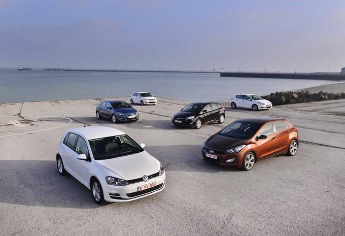 Citroën C4 e-HDi 115, Ford Focus 1.6 TDCi 115, Hyundai i30 1.6 CRDi 110, Opel Astra 1.7 CDTI 110, Renault Mégane 1.5 dCi 110 et Volkswagen Golf 1.6 TDI : Balles neuves #1