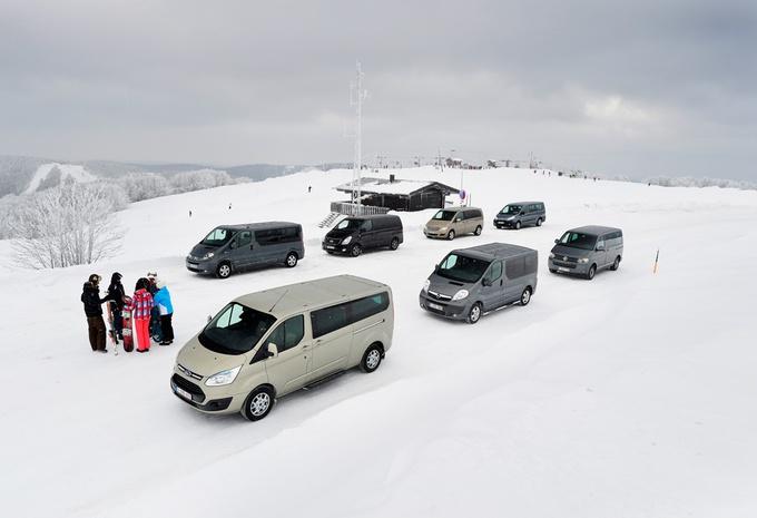 Citroën Jumper 2.0 HDi 125, Ford Tourneo Custom 2.2 TDCi 155, Hyundai H1 People 2.5 CRDi 136, Mercedes Viano 2.0 CDI, Opel Vivaro Tour 2.0 CDTI ecoFlex 115, Renault Trafic 2.0 dCi 115 et Volkswagen Multivan 2.0 TDI 136 #1