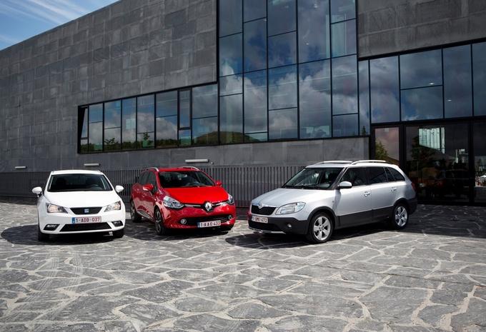 Renault Clio Grandtour 1.5 dCi 90, Seat Ibiza ST 1.6 TDI 90 et Skoda Fabia Combi 1.6 TDI 90 : Variations sur le thème du break #1