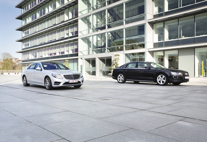 Audi A8 4.0 TFSI vs Mercedes S 500 : Action? Réaction! #1