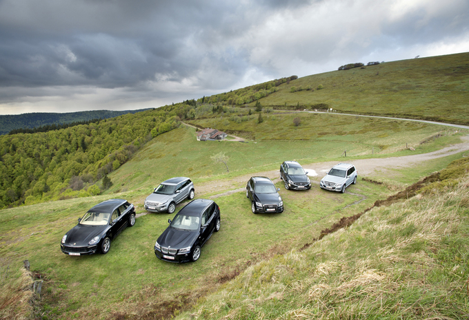 Audi Q5 3.0 TDI quattro, BMW X3 xDrive 30d, Mercedes GLK 250 BlueTEC, Porsche Macan S Diesel, Range Rover Evoque SD4 et Volvo XC60 D5 : Un tigre parmi les loups #1