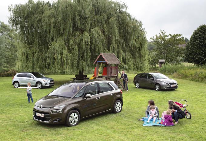 Citroën C4 Picasso 1.6 e-HDi 116, Mitsubishi ASX 1.8 DI-D 115 en Peugeot 308 SW 1.6 BlueHDi 115 : Huisvrienden #1