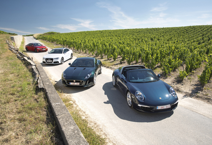 Audi RS5, BMW M4, Jaguar F-Type S et Porsche 911 Targa 4S : Une partie presque parfaite #1