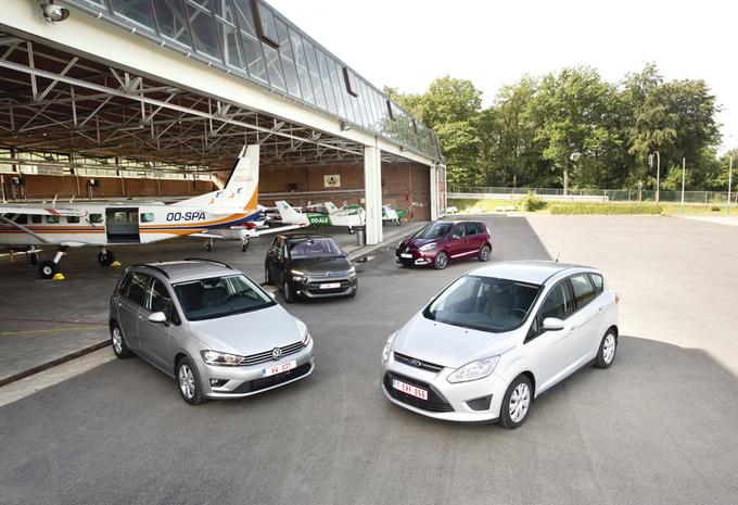 Citroën C4 Picasso 1.6 e-HDi 115, Ford C-Max 1.6 TDCi 115, Renault Scénic 1.5 dCi 110 et Volkswagen Golf Sportsvan 1.6 TDI 110 : Le club des 5 (places) #1