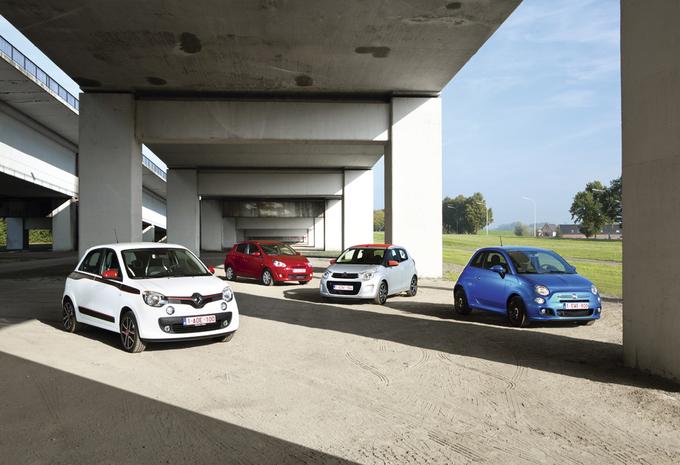 Citroën C1, Fiat 500, Mitsubishi Space Star en Renault Twingo : Kleintjes met karakter #1