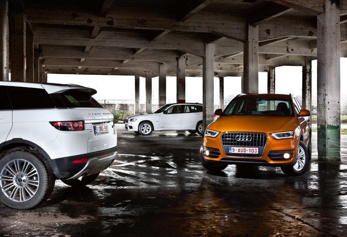 AUDI Q3 2.0 TDI QUATTRO // BMW X1 XDRIVE20d // RANGE ROVER EVOQUE TD4 : Drie koningen #1