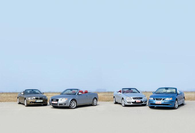 AUDI A4 2.0 TDI • BMW 320Cd • MERCEDES CLK 320 CDI • SAAB 9-3 1.9 TiD : Zon, zee en .. cabrio's #1