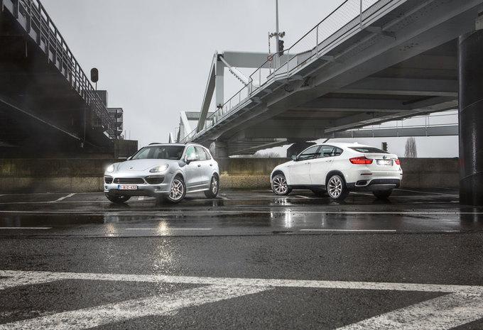 BMW X6 M50d vs PORSCHE CAYENNE S DIESEL : machomannen en voetballersvrouwen #1