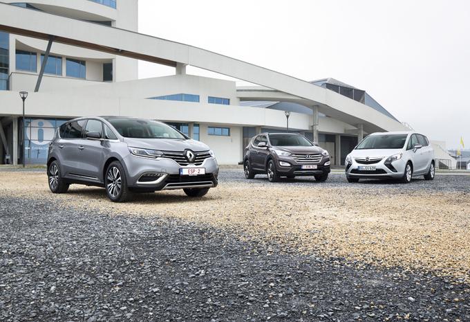 Hyundai Santa Fe, Opel Zafira Tourer et Renault Espace : Meltingpot #1