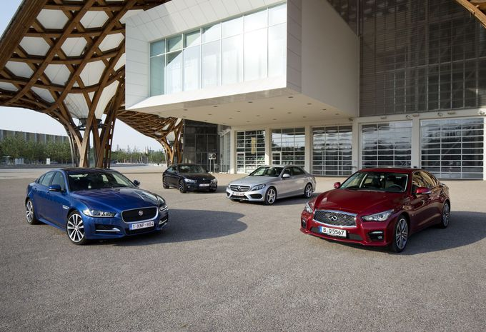 Jaguar XE, BMW Série 3, Infiniti Q50, Mercedes Classe