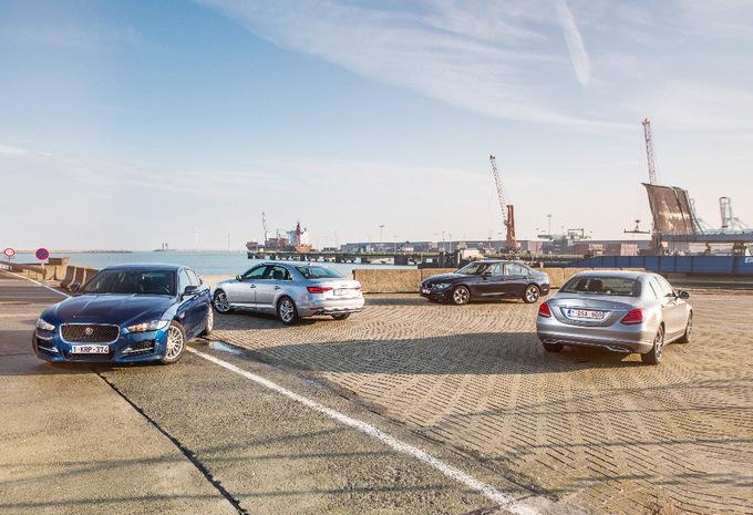 AUDI A4 2.0 TDI 150 // BMW 320D EDE // JAGUAR XE 2.0D 163 // MERCEDES C 22O D : A4-kamp #1