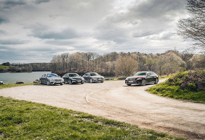 Audi A8 50 TDI // BMW 740d // Lexus LS 500h // Mercedes S 400 d L : De mol #1